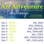 Week 1 - Dec 1-7th Art Adventure Instagram Challenge