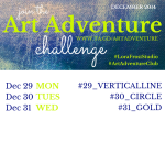Week 5 - Dec 29th - 31st - Art Adventure Challenge