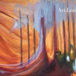 "Case Study: Creating Commissioned Art ""Sunbeam Through Trees"""