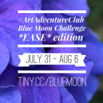 #ArtAdventureClub - Blue Moon Challenge - Ease Edition