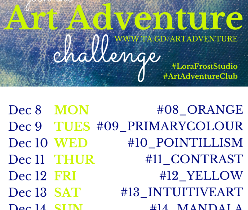 Week 2 – Dec 8 – 14th Art Adventure Instagram Challenge
