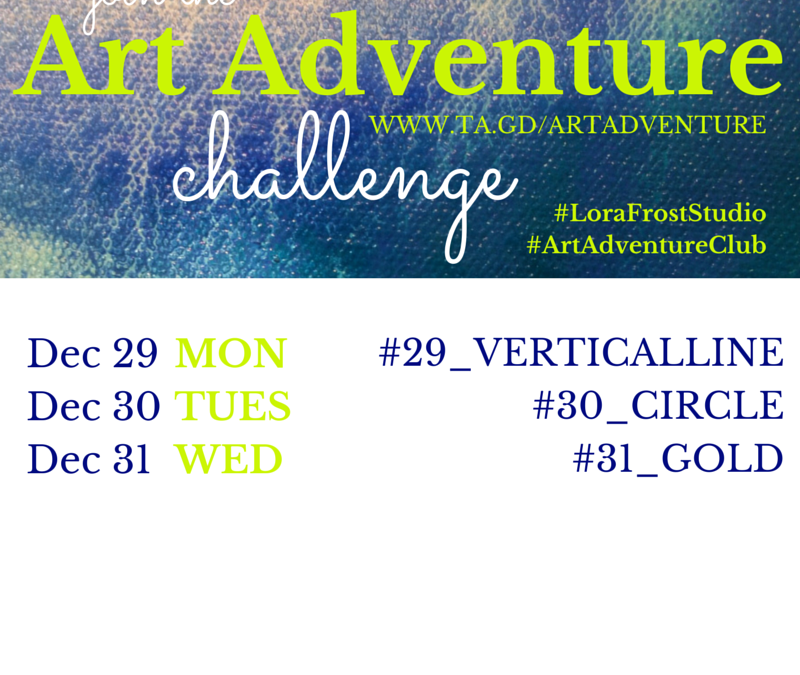 Week 5 – Dec 29th – 31st – Art Adventure Challenge
