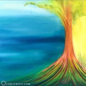 Abstract Healing Art, Oil Painting, Uprising Energy