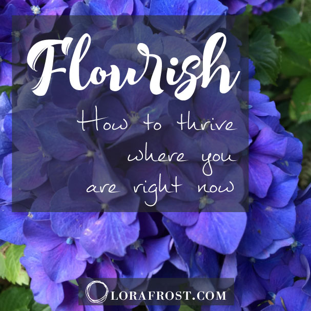 Flourish: How to Thrive Where You Are Right Now.